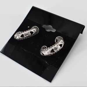 Brighton Thick Silver Heart Hoops